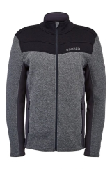 Spyder Mens Encore Full Zip Fleece Jacke (black/ebony)