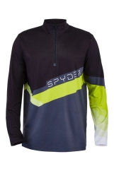 Spyder Mens Mandate Zip T-Neck Skirolli (sharp-lime)