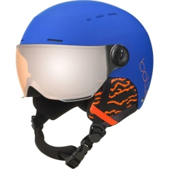 Bolle Quiz Visor Skihelm (royal-blue/orange-gun)