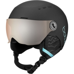 Bolle Quiz Visor Skihelm (matte-black/blue/orange-gun)