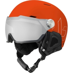 Bolle Might Visor Premium MIPS Skihelm (brick-red-matte/photochromic-silver)