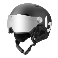 Bolle Might Visor Skihelm (black-matte/brown-gun)