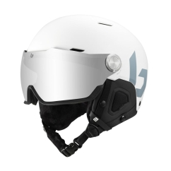 Bolle Might Visor Skihelm (offwhite-matte/brown-gun)