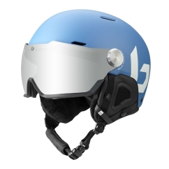 Bolle Might Visor Skihelm (yale-blue-matte/brown-gun)
