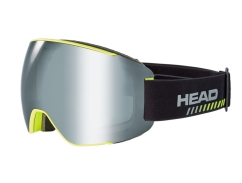 Head Magnify Supershape Skibrille + Sparelens (black/yellow)
