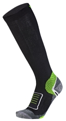 Wapiti W07 Soft Compression Skisocken (schwarz/lemon)