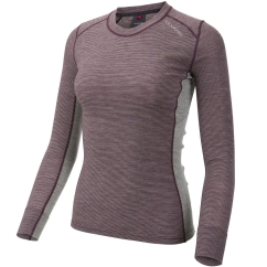 Ulvang Rav 100% Round Neck Ws Funktionsshirt (fig/grey-melange)