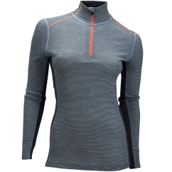 Ulvang Rav 100% Turtle Neck w/zip Ws Funktionsshirt (gulf-stream/granite/persimmon)