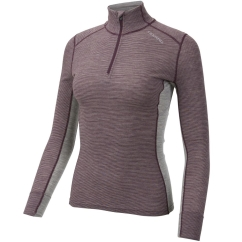 Ulvang Rav 100% Turtle Neck w/zip Ws Funktionsshirt (fig/grey-melange)