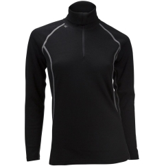 Ulvang 50Fifty 2.0 Turtle Neck w/zip Ws Funktionsshirt (black/black)