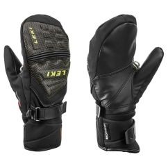 Leki Race Coach C-Tech S Junior Mitt Handschuhe (schwarz/ice-lemon)
