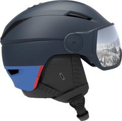 Salomon Pioneer Visor Skihelm (dress-blue)