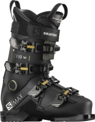 Salomon S/Max 110 W Skischuhe (black/golden-glow/metallic-belluga)