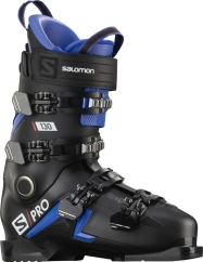 Salomon S/Pro 130 Skischuhe (black/race-blue/red)