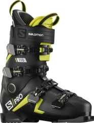 Salomon S/Pro 110 Skischuhe (black/acid-green/white)