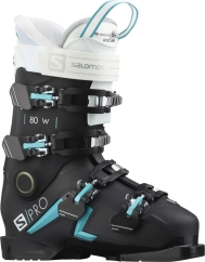 Salomon S/Pro 80 W Skischuhe (black/scuba-blue/white)