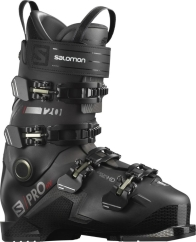 Salomon S/Pro HV 120 Skischuhe (black/red/belluga)
