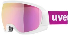 Uvex contest FM Skibrille (white-mat/pink-clear)