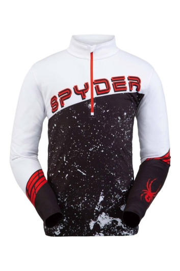 Spyder Mens Mandate Zip T-Neck Skirolli (white)
