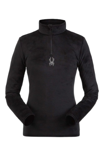 Spyder Womens Shimmer Bug Zip T-Neck Skirolli (black)