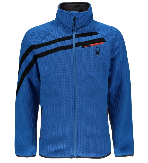 Spyder Mens Wengen FZ Mid WT Stryke Jacket (french-blue)