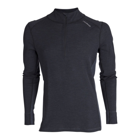 Ulvang Rav 100% turtle neck w/zip Ms Merino-Funktionsshirt (black/granite)