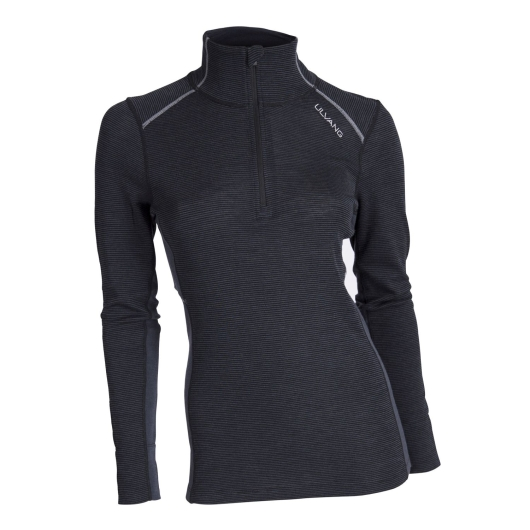 Ulvang Rav 100% turtle neck w/zip Ws Merino-Funktionsshirt (black/granite/high-rise)