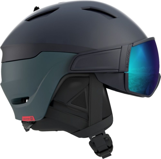 Salomon Driver Skihelm (dress-blue/moroccan-blue)