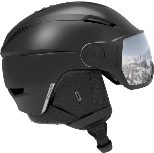 Salomon Pioneer Visor Skihelm (black)
