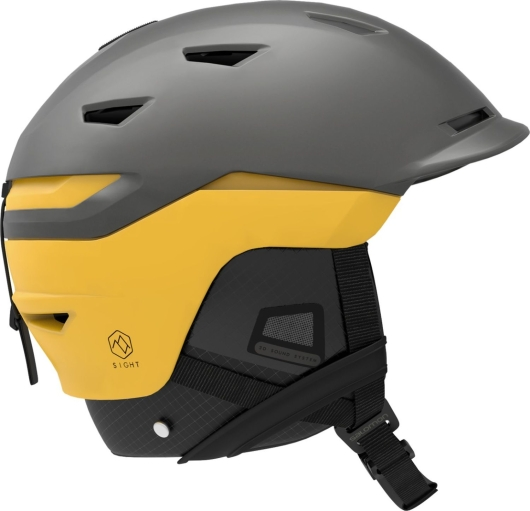 Salomon Sight Skihelm (grey/lemon-chrome)