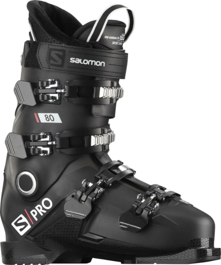 Salomon S/Pro 80 Skischuhe (black/belluga/red)