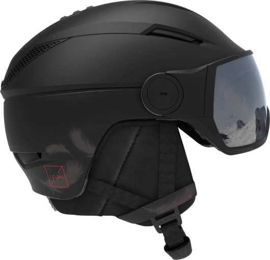 Salomon Icon2 Visor Skihelm (black/red)