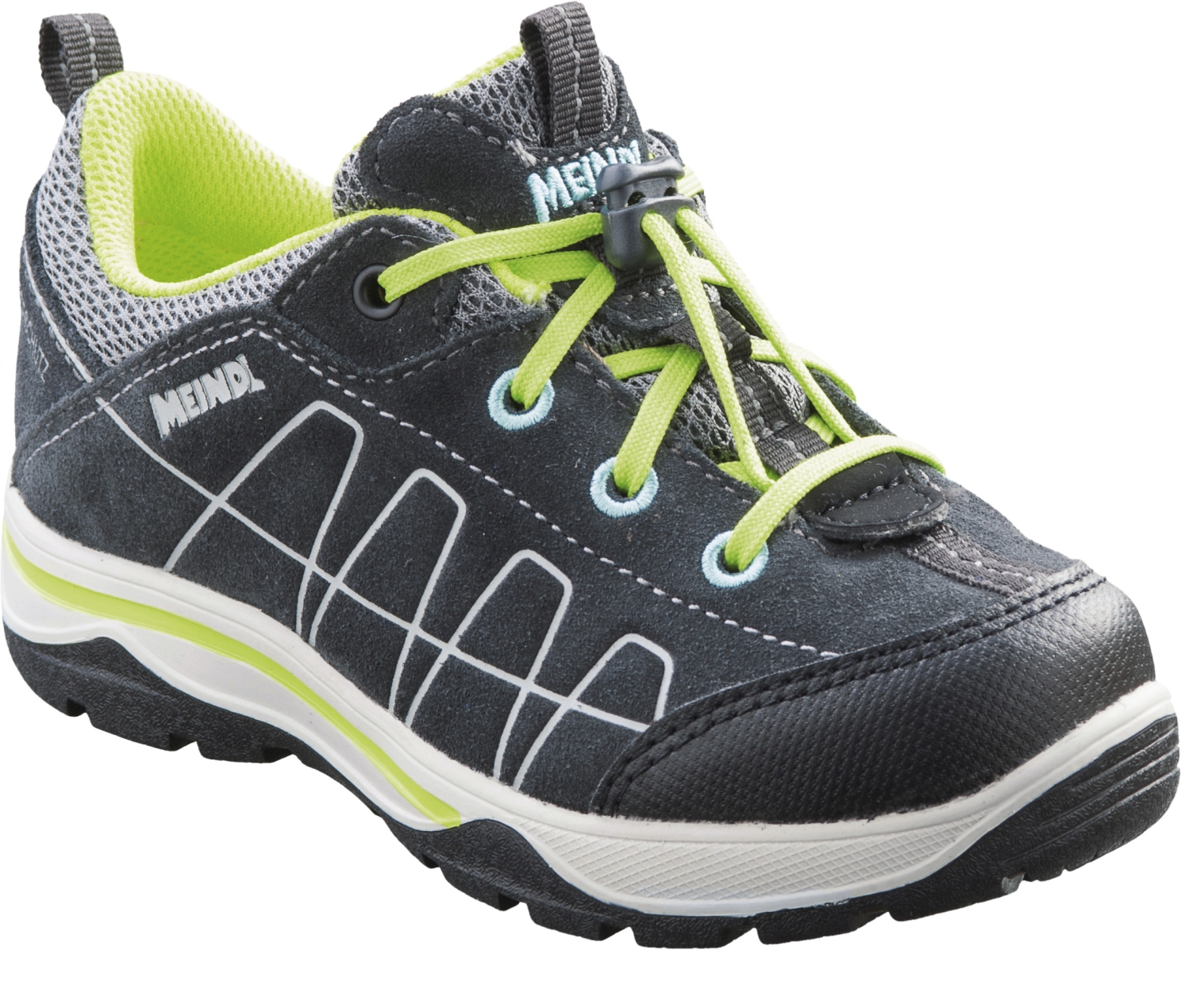 best service dcc68 eb24b Meindl Pinedo Kinder-Outdoorschuhe (anthrazit/lemon)