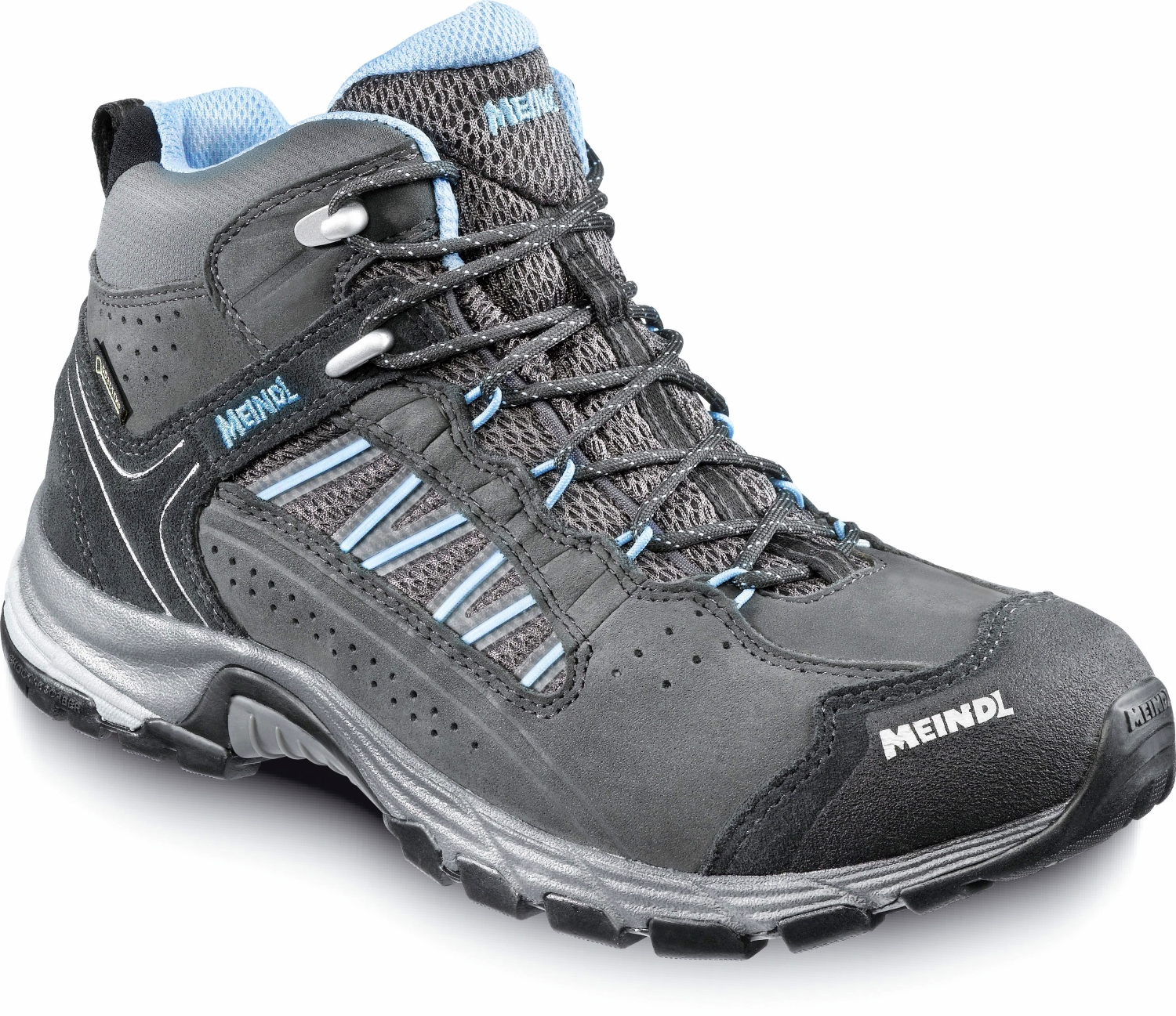 Meindl Journey Lady Mid GTX Größe UK 6 anthrazit-azur A91wqMr