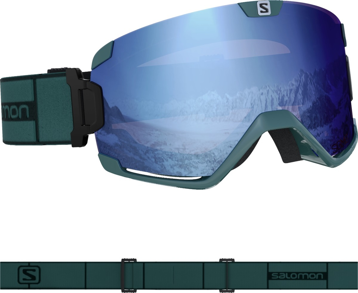 Salomon Cosmic Sigma Skibrille (green gables)