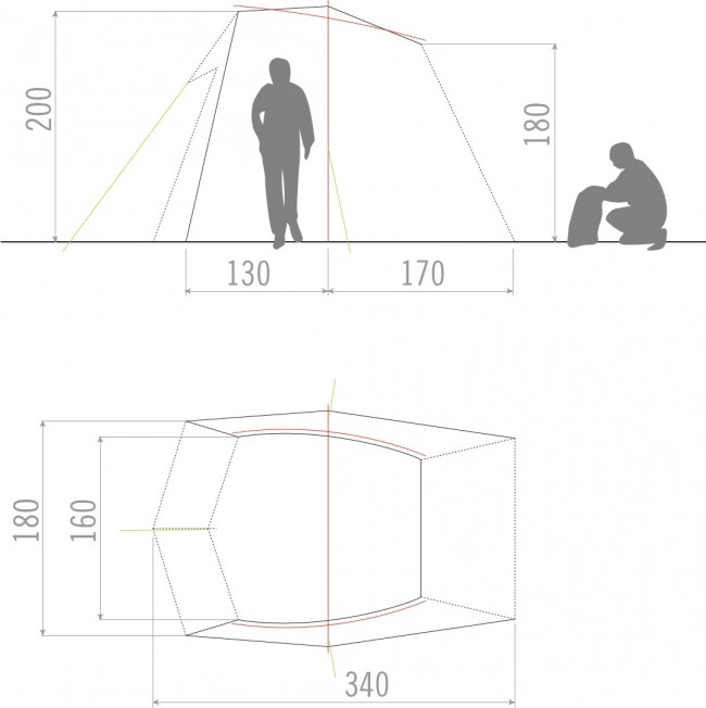 vaude drive wing zelt linen krusche. Black Bedroom Furniture Sets. Home Design Ideas
